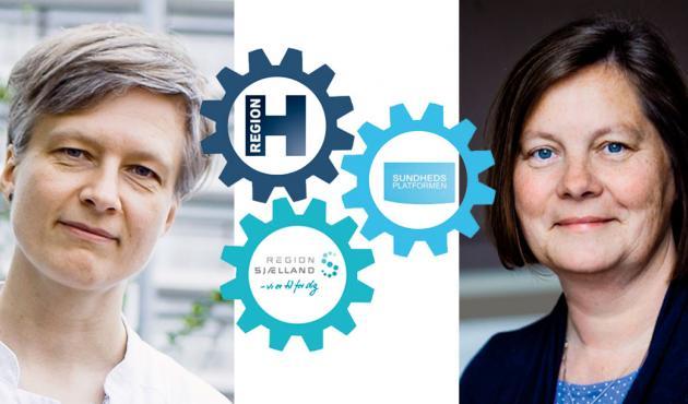 Helga Schultz (tv) og Lisbeth Lintz kræver handling på Sundhedsplatformen. Foto: Claus Boesen/Sundhedsplatformen.